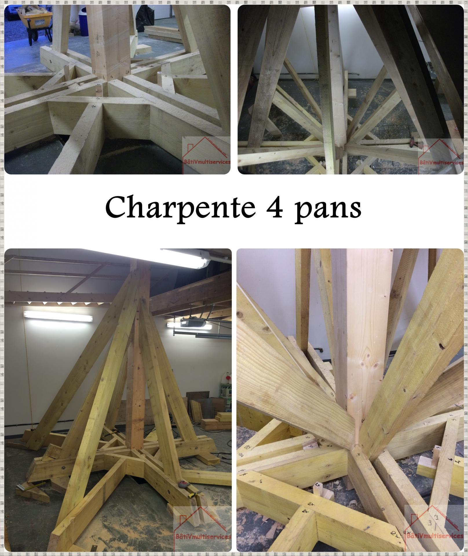 charpente 4 pans