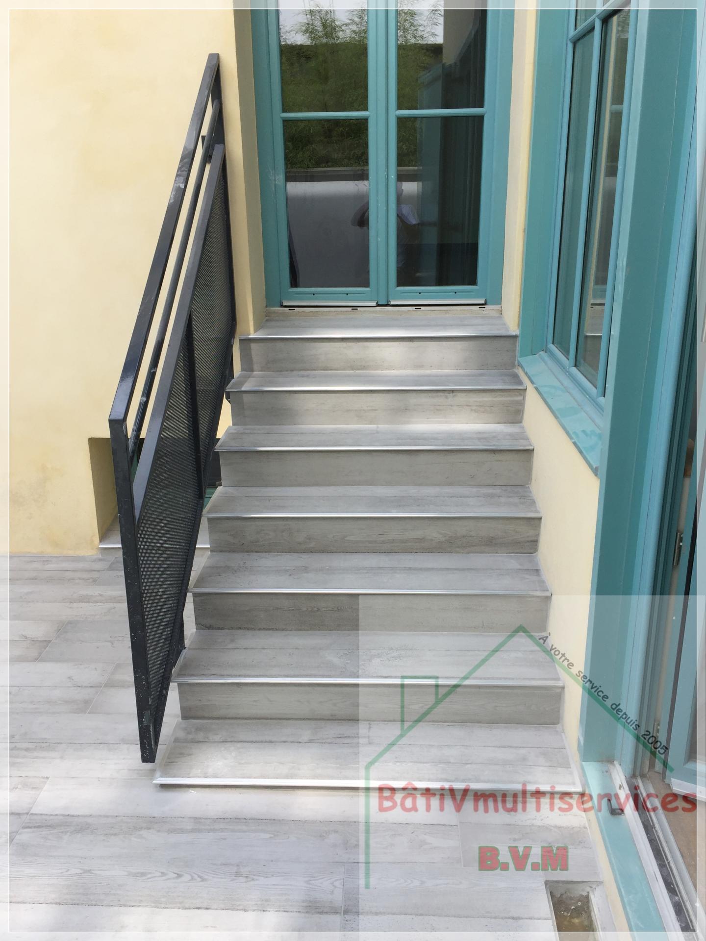 lame parquet escalier sur terrasse