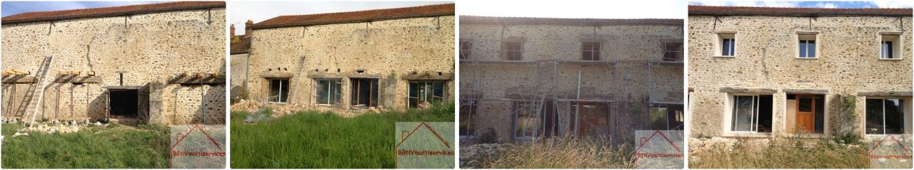renovation façade en pierre